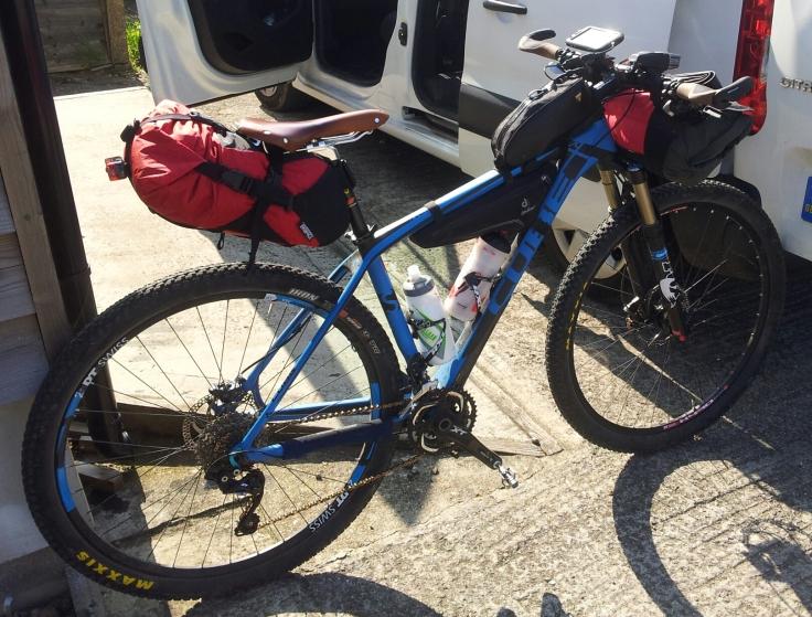 Cube 29er bikepacking rig